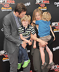 Joel McHale and family at The Weinstein Company World Premiere of Spy Kids: All the Time in the World in 4 held at The Regal Cinames,L.A. Live in Los Angeles, California on July 31,2011                                                                               © 2011 Hollywood Press Agency