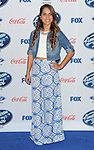 Emily Piriz arriving at the 'American Idol XIII Finalists Party' held at Fig and Olive in Los Angeles on February 20, 2014