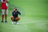 Belen Mozo (ESP) lines up her putt on 9 during Thursday's first round of the 72nd U.S. Women's Open Championship, at Trump National Golf Club, Bedminster, New Jersey. 7/13/2017.<br /> Picture: Golffile | Ken Murray<br /> <br /> <br /> All photo usage must carry mandatory copyright credit (&copy; Golffile | Ken Murray)