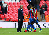 5th November 2017, Wembley Stadium, London England; EPL Premier League football, Tottenham Hotspur versus Crystal Palace; Crystal Palace Manager Roy Hodgson standing on the pitch stares at his Crystal Palace players after full time