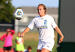 BROOKINGS, SD - August 19:  Kyli Nelson #2 from South Dakota State controls the ball against Utah State during the first half of their match at Fischback Soccer Field in Brookings. (Photo by Dave Eggen/Inertia)
