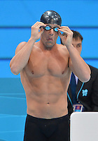 July 29, 2012..Brendan Hansen of USA prepares to compete in men's 100m Breaststroke final at the Aquatics Center on day two of 2012 Olympic Games in London, United Kingdom.