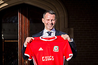 Ryan Giggs poses for a photograph as he is unveiled as the new Wales National team Manager at Hensol Castle, Vale of Glamoran, on 15 January 2018. Photo by Mark Hawkins.
