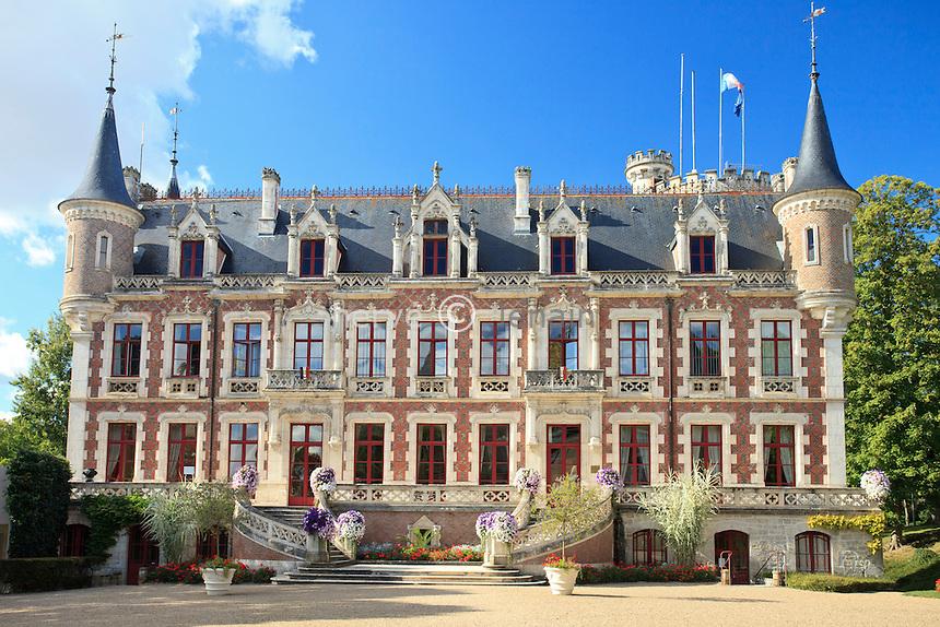 France, Cher (18), Saint-Florent-sur-Cher, le château actuellement la mairie // France, Cher, Saint Florent sur Cher, the castle