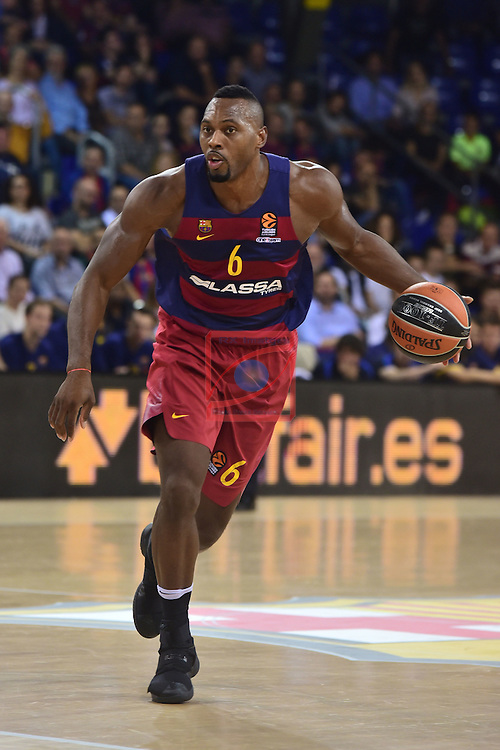 Turkish Airlines Euroleague 2016/2017.<br /> Regular Season - Round 4.<br /> FC Barcelona Lassa vs Brose Bamberg: 78-74.<br /> Joey Dorsey.