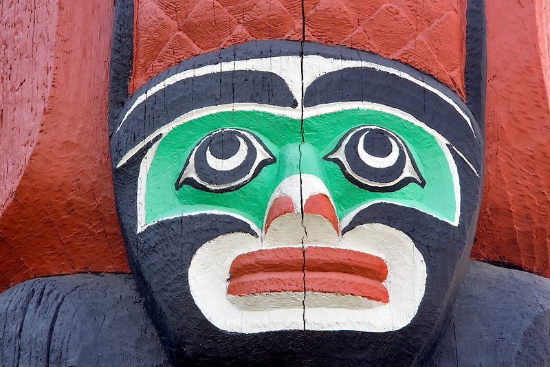 Native Indian totem carvings. Royal British Columbia Museum. Victoria, B.C.