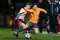 Mark McKee of Stevenage and Liam Kelly of Reading during Stevenage vs Reading, Emirates FA Cup Football at the Lamex Stadium on 6th January 2018