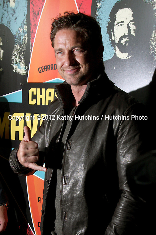 """LOS ANGELES - OCT 18:  Gerard Butler arrives at  the """"Chasing Mavericks"""" Screening at Pacific's The Grove Stadium 14 Theaters on October 18, 2012 in Los Angeles, CA"""