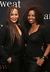 "Nicole Ari Parker and Vanessa A. Williams attend the after party for the Broadway Opening Night of ""Sweat"" at Brasserie 8 1/2 on March 26, 2017 in New York City."