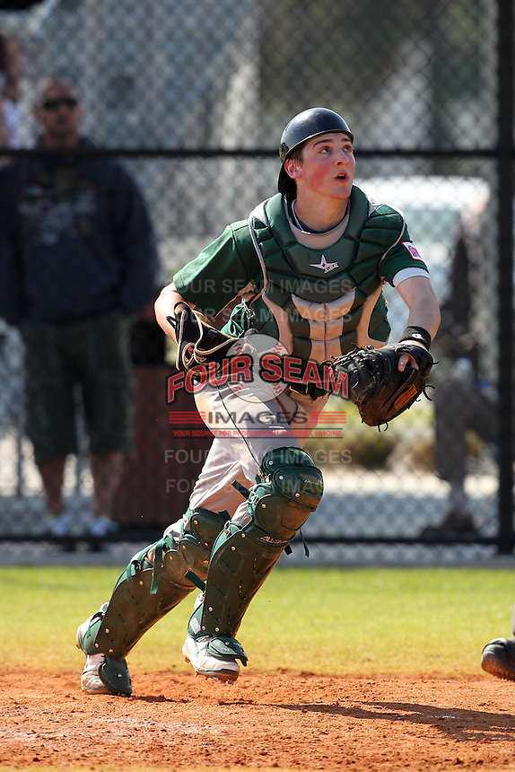 Chicago State Cougars Jack Bobillo #4 during a game vs Long Island at Lake Myrtle Main Field in Auburndale, Florida;  March 16, 2011.  Long Island defeated Chicago State 9-8.  Photo By Mike Janes/Four Seam Images