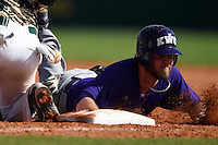 Kentucky Wesleyan Panthers second baseman Dennon Koziol (18) during a game against Slippery Rock University on March 9, 2015 at Jack Russell Stadium in Clearwater, Florida.  Kentucky Wesleyan defeated Slippery Rock 5-4.  (Mike Janes/Four Seam Images)