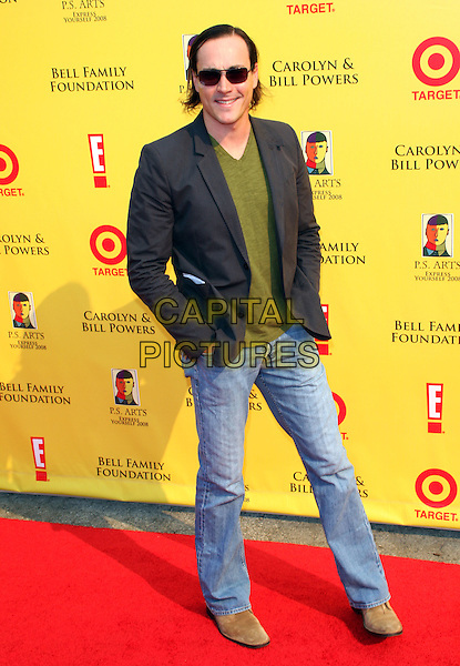 """CHRIS KLEIN.""""2008 P.S. ARTS' Express Yourself"""" Sponsored By Target Event, Santa Monica, California, USA..November 16th, 2008.full length jeans denim sunglasses shades grey gray suit jacket green top .CAP/ADM/KB.©Kevan Brooks/AdMedia/Capital Pictures."""