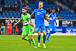 01.12.2018, wirsol Rhein-Neckar-Arena, Sinsheim, GER, 1 FBL, TSG 1899 Hoffenheim vs FC Schalke 04, <br /> <br /> DFL REGULATIONS PROHIBIT ANY USE OF PHOTOGRAPHS AS IMAGE SEQUENCES AND/OR QUASI-VIDEO.<br /> <br /> im Bild: Guido Burgstaller (FC Schalke 04 #19) gegen Kevin Vogt (TSG Hoffenheim #22)<br /> <br /> Foto &copy; nordphoto / Fabisch