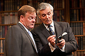 "Chris Larkin as ""Bernard Woolley"" and Simon Williams as ""Sir Humphrey Appleby"". Yes, Prime Minister by Antony Jay & Jonathan Lynn opens at the Apollo Theatre in Shaftesbury Avenue with Simon Williams as Sir Humphrey Appleby and Richard McCabe as Jim Hacker, Prime Minister."