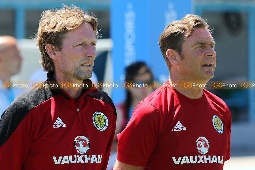 Scotland U20 Head Coach, Scot Gemmill with his Assistant, Peter Grant during Czech Republic Under-20 vs Scotland Under-20, Toulon Tournament Football at Stade de Lattre-de-Tassigny on 10th June 2017