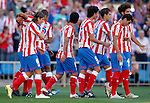 Atletico de Madrid's players celebrate during La Liga Match. September 18, 2011. (ALTERPHOTOS/Alvaro Hernandez)