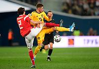 Thorgan Hazard midfielder of Belgium, Mario Figueira Fernandes defender of Russia  <br /> Saint Petersbourg  - Qualification Euro 2020 - 16/11/2019 <br /> Russia - Belgium <br /> Foto Photonews/Panoramic/Insidefoto <br /> ITALY ONLY
