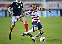 May 26, 2012:   USA Men's National Team f Landon Donovan (10) makes an attempt on the goal during action between the USA and Scotland at EverBank Field in Jacksonville, Florida.............