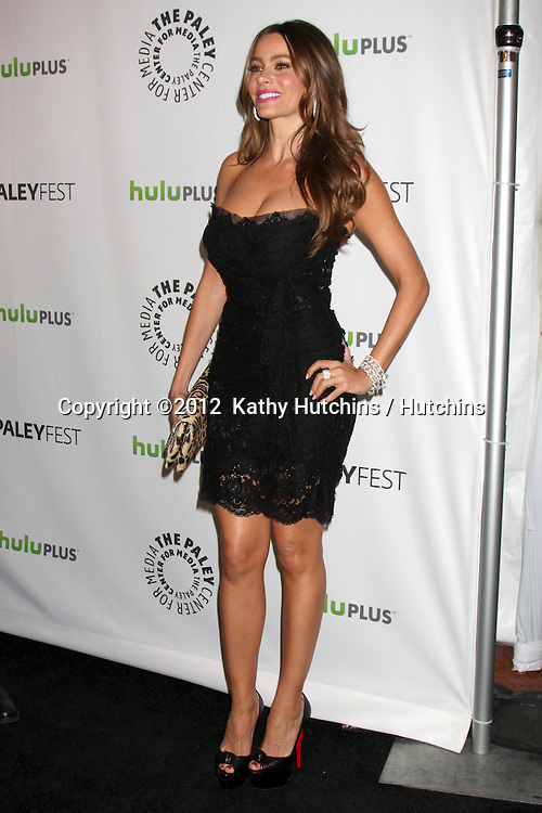 """LOS ANGELES - MAR 14:  Sofia Vergara arrives at the """"Modern Family"""" PaleyFest Event at the Saban Theater on March 14, 2012 in Los Angeles, CA"""