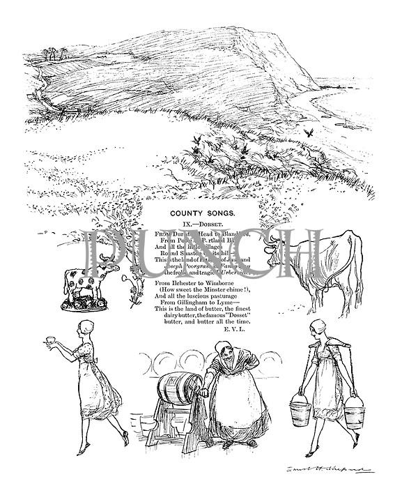 County Songs. IX.—Dorset. (Illustrated poem)
