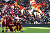 AS Romaplayers pose for photographers before the Serie A 2018/2019 football match between AS Roma and UC Sampdoria at stadio Olimpico, Roma, November, 11, 2018 <br />  Foto Andrea Staccioli / Insidefoto