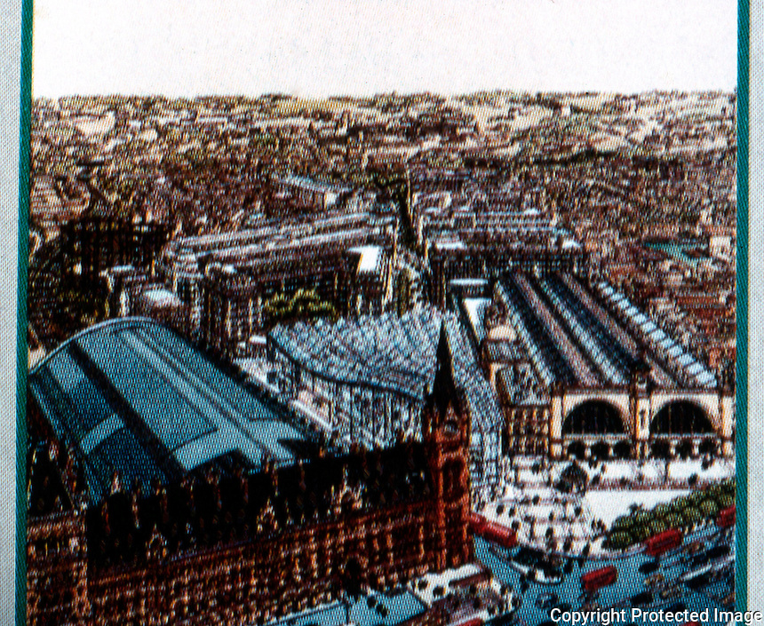 London: St. Pancras--King's Cross-- S.O.M.'s failed design. (Norman Foster began with SOM, then submitted his own--and won.)