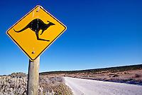 Kangaroo road sign, South Australia..photo:  joliphotos.com