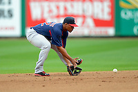 Boston Red Sox shortstop Xander Bogaerts #72 during a Spring Training game against the Philadelphia Phillies at Bright House Field on March 24, 2013 in Clearwater, Florida.  Boston defeated Philadelphia 7-6.  (Mike Janes/Four Seam Images)