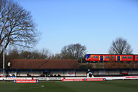 General View of King Georges Field as a local train passes by during Kingstonian vs AFC Fylde, Emirates FA Cup Football at King George's Field on 30th November 2019