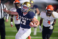 NWA Democrat-Gazette/ANDY SHUPE<br /> Shiloh Christian running back Cam Wiedemann reacts Friday, Nov. 29, 2019, as he scores a touchdown through the Nashville defense during the first half of play at Champions Stadium in Springdale. Visit nwadg.com/photos to see more photographs from the game.
