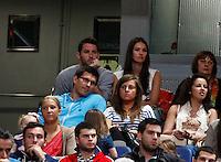 6.05.2012 Madrid, España. Rudy Fernandez y Helen Linces acudieron al Palacio de los deportes para ver el Real Madrid - Fiatc Jovemtut