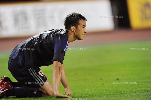 Shinji Okazaki (JPN),<br /> AUGUST 14, 2013 - Football / Soccer :<br /> Kirin Challenge Cup 2013 match between Japan 2-4 Uruguay at Miyagi Stadium in Miyagi, Japan. (Photo by Takahisa Hirano/AFLO)
