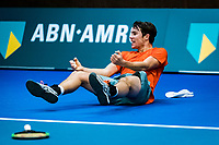 Alphen aan den Rijn, The Netherlands, 25 Januari 2019, ABNAMRO World Tennis Tournament, Supermatch, Final,  Ryan Nijboer  (NED) Jubilates matchpoint, he wins the supermatch<br /> <br /> Photo: www.tennisimages.com/Henk Koster