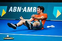 Alphen aan den Rijn, The Netherlands, 25 Januari 2019, ABNAMRO World Tennis Tournament, Supermatch, Final,  Ryan Nijboer  (NED) Jubilates matchpoint, he wins the supermatch<br /> <br /> Photo: www.tennisimages.com/Henk Koster