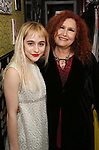 Sophia Anne Caruso and Melissa Manchester backstage at 'Tis The Season Jamie deRoy & Friends Holiday Show' at the Birdland on December 11, 2017 in New York City.