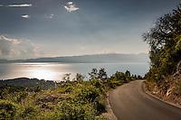 Makedonien. Tur til Velestovo ved Ohrid. Udsigt over søen og byen herfra. Foto: Jens Panduro