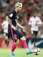 FC Barcelona's Leo Messi during La Liga match. August 28,2016. (ALTERPHOTOS/Acero) /NORTEPHOTO