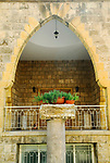 BA1XCX Arched balcony in Byblos Lebanon Middle East Asia. Image shot 2008. Exact date unknown.