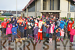 FENIT RAIL WALKWAY: The large group of walkers that gathered at St Brendan's Church, Tralee for the Fenit Rail Walkway walk on Sunday.