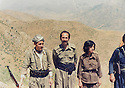 Iraq 1980 .In Kani Knie,from right to left, Pakchan Hafid, Omar Sheikhmous and Tuwfiq Garewar  .Irak 1980  .A Kani Knie, Omar Sheikhmous, Tuwfiq Garewar et Pakchan Hafid