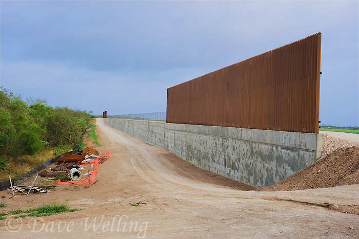 789250063 a lonely section of the hugely expensive border wall near santa ana national wildlife refuge and the city of alamo in the rio grande valley of south texas