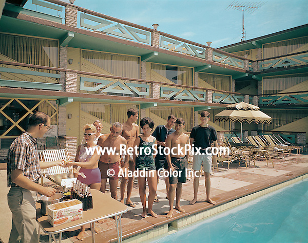 Satellite Motel in Wildwood, NJ. 1960's BBQ party by the pool.