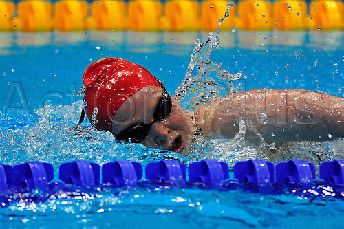 05.09.2012 Stratford, England. Gemma Almond of Great Britain in action during the Women's 400m Freestyle S10 on day 7 of the London 2012 Paralympic Games at the Aquatic Centre.
