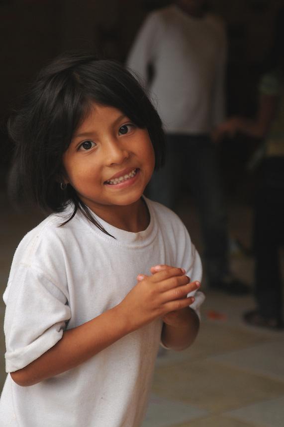 Child in small village of Mindo, Ecuador.