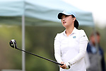 CHAPEL HILL, NC - OCTOBER 14: North Carolina's Cheni Xu (CHN) on the 10th tee. The second round of the Ruth's Chris Tar Heel Invitational Women's Golf Tournament was held on October 14, 2017, at the UNC Finley Golf Course in Chapel Hill, NC.