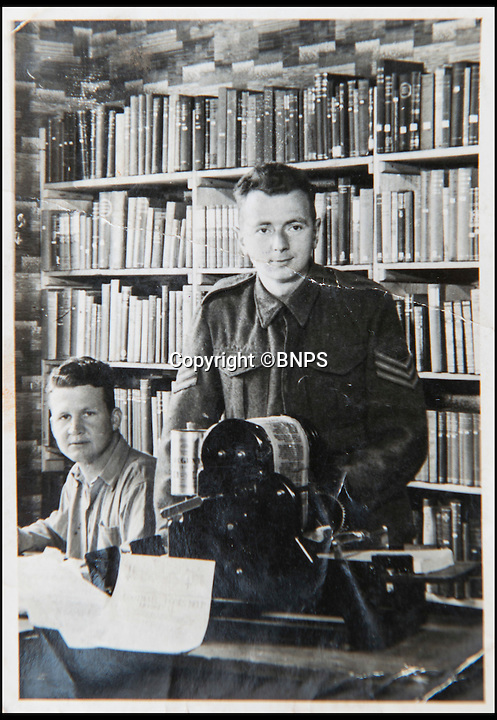 BNPS.co.uk (01202 558833)<br /> Pic: TomWren/BNPS<br /> <br /> Sergeant Frederick Foster(right).<br /> <br /> The poignant story of how a British Prisoner of War paid with his life for turning back for a comrade during an audacious escape has been uncovered in an old suitcase.<br /> <br /> Frederick Foster and Antony Coulthard had travelled 1,000 miles across Poland and Germany before one of them was caught by a German guard on the Swiss border.<br /> <br /> Coulthard, who was free, went back for him and was also caught. He went on to die on a 'death march' towards the end of the war. <br /> <br /> Now Sgt Foster's son Steve is turning the epic escape into a book.