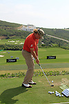 Miguel Angel Jimenez (ESP) in action on the practice range during Day 1 of the Volvo World Match Play Championship in Finca Cortesin, Casares, Spain, 19th May 2011. (Photo Eoin Clarke/Golffile 2011)