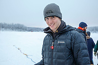 Junior Musher Andrew Nolan at Knik during the start of the Junior Iditarod on Saturday February 25, 2017. <br /> <br /> <br /> Photo by Jeff Schultz/SchultzPhoto.com  (C) 2017  ALL RIGHTS RESVERVED