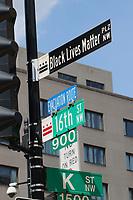 JUN 05 Black Lives Matter Plaza In Washington D.C.