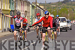 Cyclists pass through the streets of Abbeyfeale last Monday in aid of the Brothers of Charity Listowel and Newcastle West..